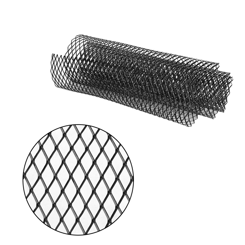 Burrby Aluminum Racing Grille Mesh,Front Grille Trim Cover Aluminium For bumper, spoiler, ventilation grill Cars Vehicle Grille,100 x 30cm,Black