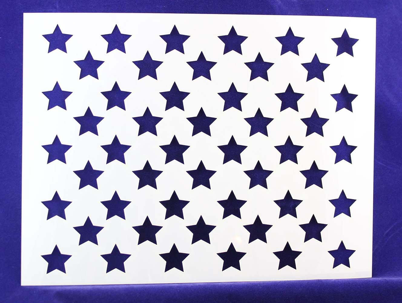 50 Star Field Stencil 14 Mil -14.8W x11.1H - Painting /Crafts/ Templates TCR Engraving & Graphics ms104