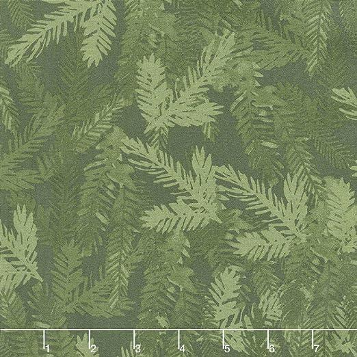 Clothwork Craft - Tela de algodón para acolchar con ramas de pino, algodón, 50cm x 110cm: Amazon.es: Amazon.es
