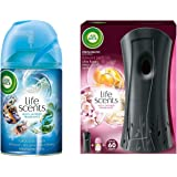 Airwick Freshmatic Refill Life Scents Turquoise Oasis - 250 ml & Freshmatic Complete Kit - Automatic Air Freshener - Summer Delights (250 ml) Combo