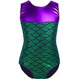 Tiaobug Girls Sleeveless Gymnastics Leotards Mermaid Ballet Dance Jumpsuit Bodysuit Dancewear