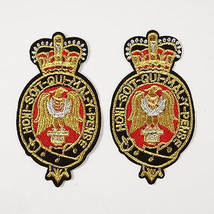 Amazon com: Gold Bullion Embroidered Iron-On Badges