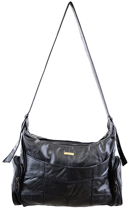 Ladies Large Leather Shoulder Bag Hand Bag with 2 Main Compartments and Multiple  Pockets - 42d74c90e2b99