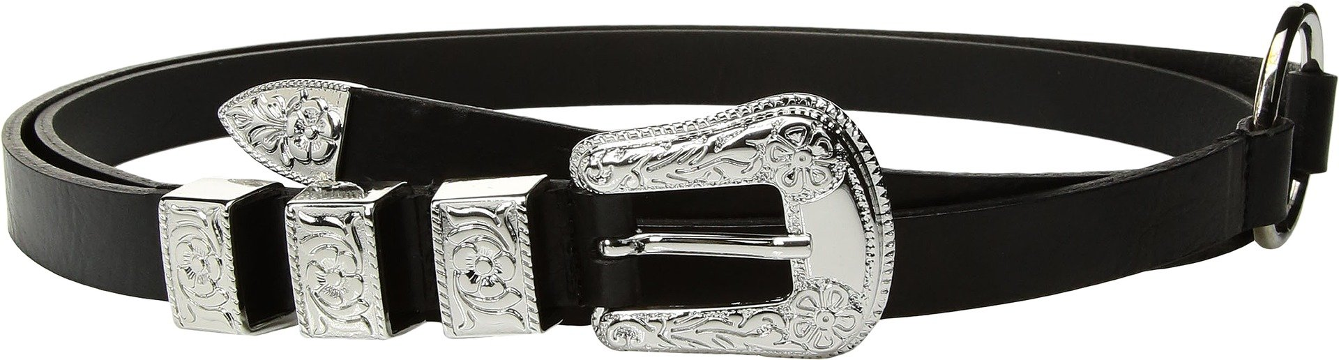 McQ - Alexander McQueen Women's Solstice Double Wrap Belt, Black, Medium by McQ Alexander McQueen