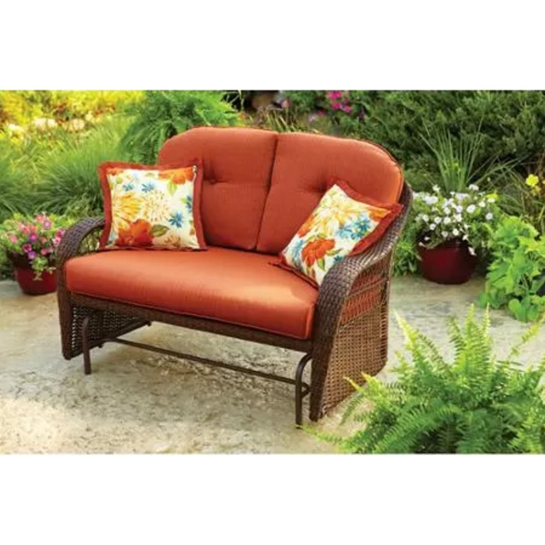 Amazon.com: Outdoor Patio Glider By Better Homes And Gardens: Garden U0026  Outdoor