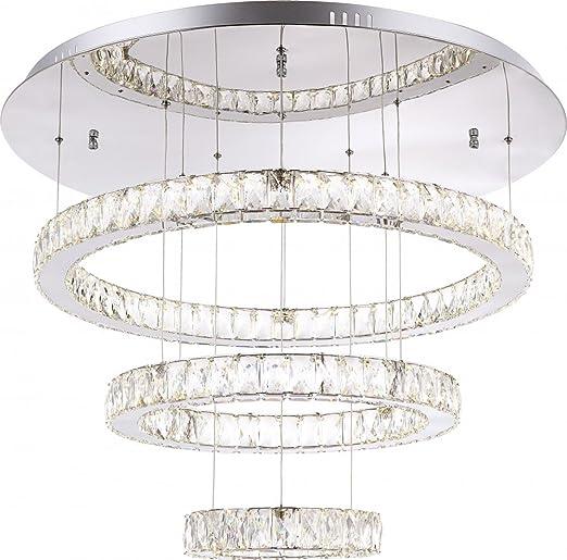 Lámpara de techo cromada, K5 claro, blanco, tamaño del ...