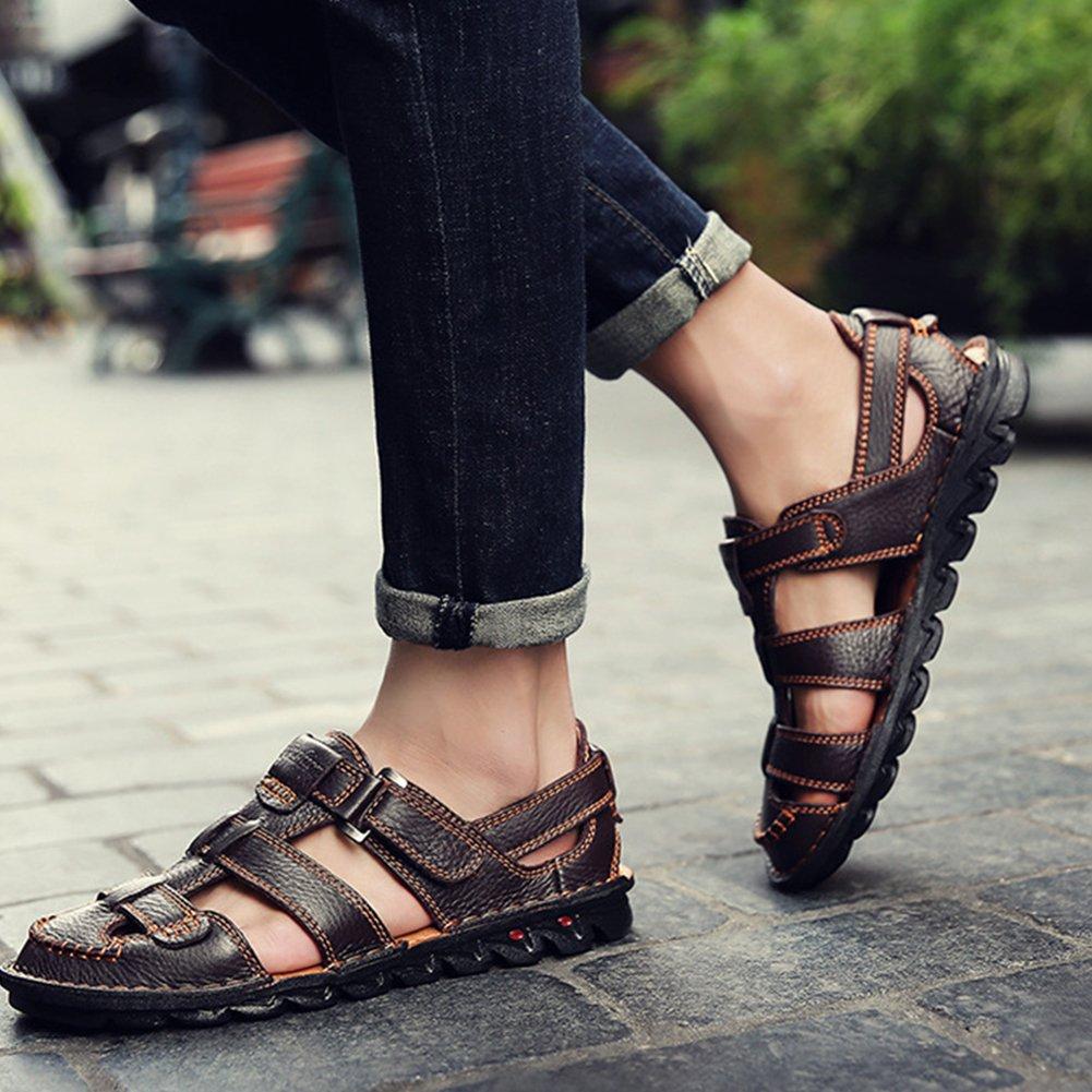 9c0cd15362eb Homme Sandale Fermée Chaussure d affaire Ajourée A Enfiler Respirante  Pêcheur Sandales Ouvert pour Marche Plage  Amazon.fr  Chaussures et Sacs