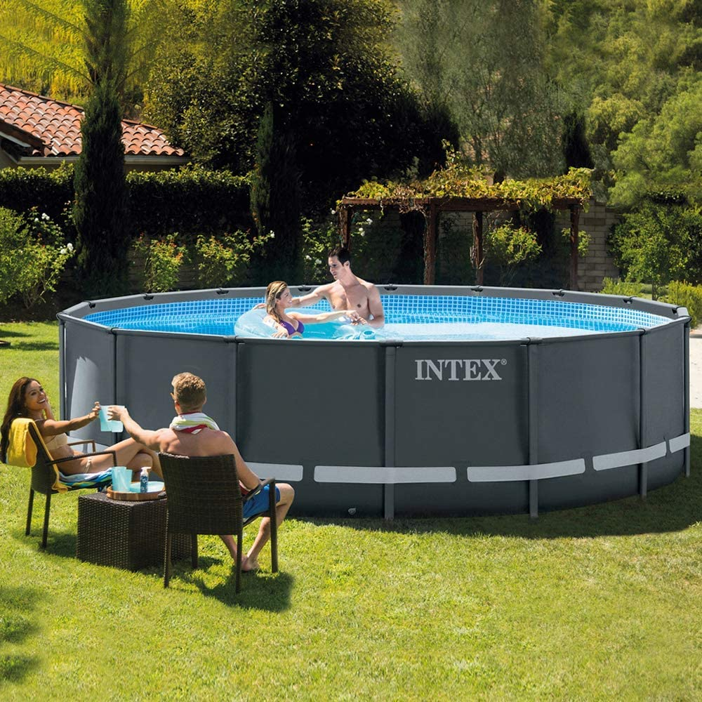 Intex 26326 Piscina Ultra Frame 488 x 122 Cm: Amazon.es: Jardín