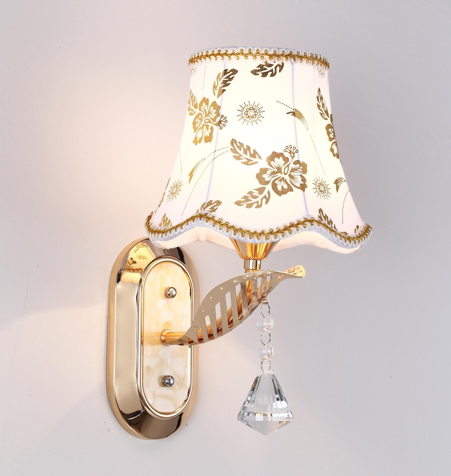 Ganeed One-Light Vintage Industrial Wall Sconces Light,Led Wall Light Lamp Fixtures with Cloth Lampshade for Living Room Bedrooms Corridor Bedside Corridor Home Lighting Decoration