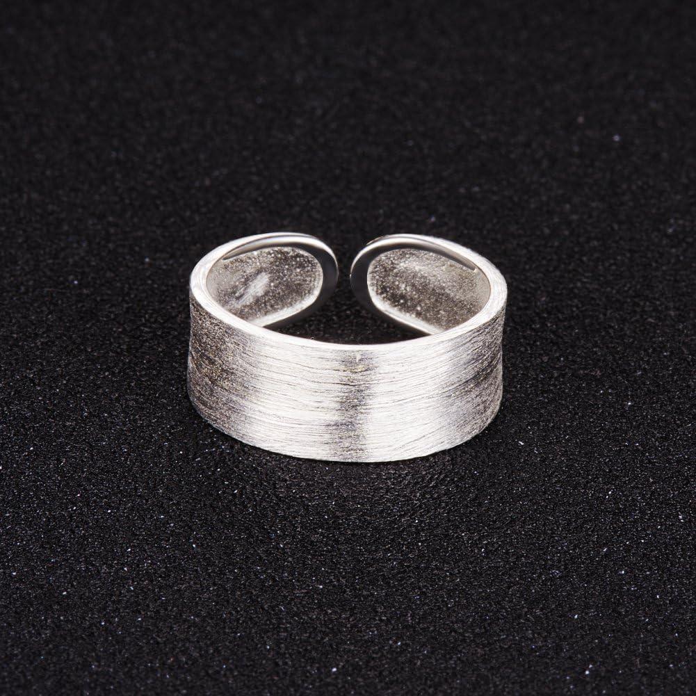 Pulsera plata de ley 925 dise/ño de anillo Sweetiee ancho 18 mm
