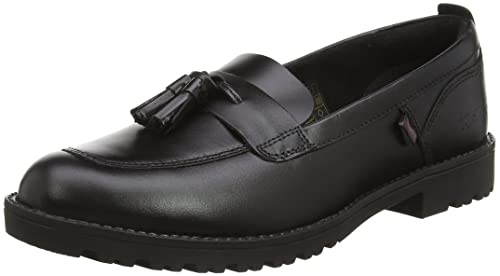 Kickers Girls' Lachly Youth Loafers, Black (Black), 4 UK 37 EU
