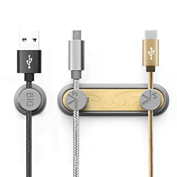 Bystep - Soporte para cables de carga, soporte magnético, soporte para cables para teléfono móvil, soporte magnético para cables, clips magnéticos: ...