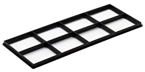 """Decor Grates FRP410 Pristene Air Filter Retainer For Decor Grates Registers, 4"""" By 10"""", 4 Pack"""