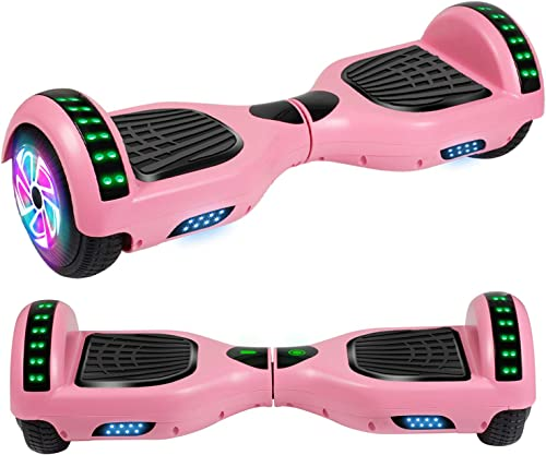 Felimoda Hoverboard, w Bluetooth Speaker for Kid and Adult- UL2272 Certified Pink