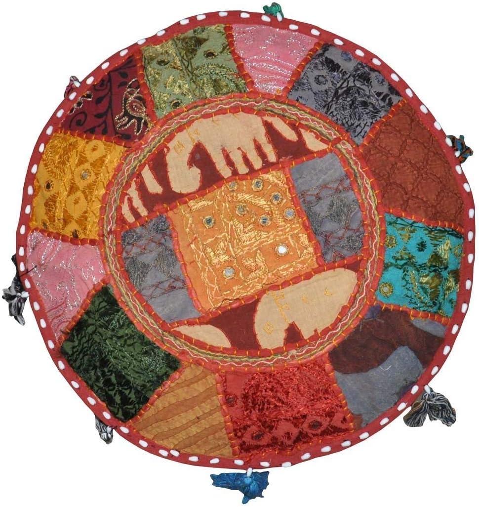 Bohemian Pouf Ottoman Ottoman GANESHAM Patchwork Indien Housse de pouf indien Pouf Salon Home Decor d/écoratifs Home Living Repose-pieds Housse de chaise Housse brod/ée /à la main Designer Ottoman