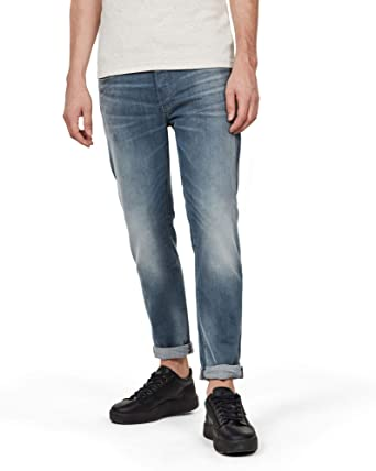G STAR RAW HERREN Jeans,Modell 3301,Gr. 3436, schwarz EUR