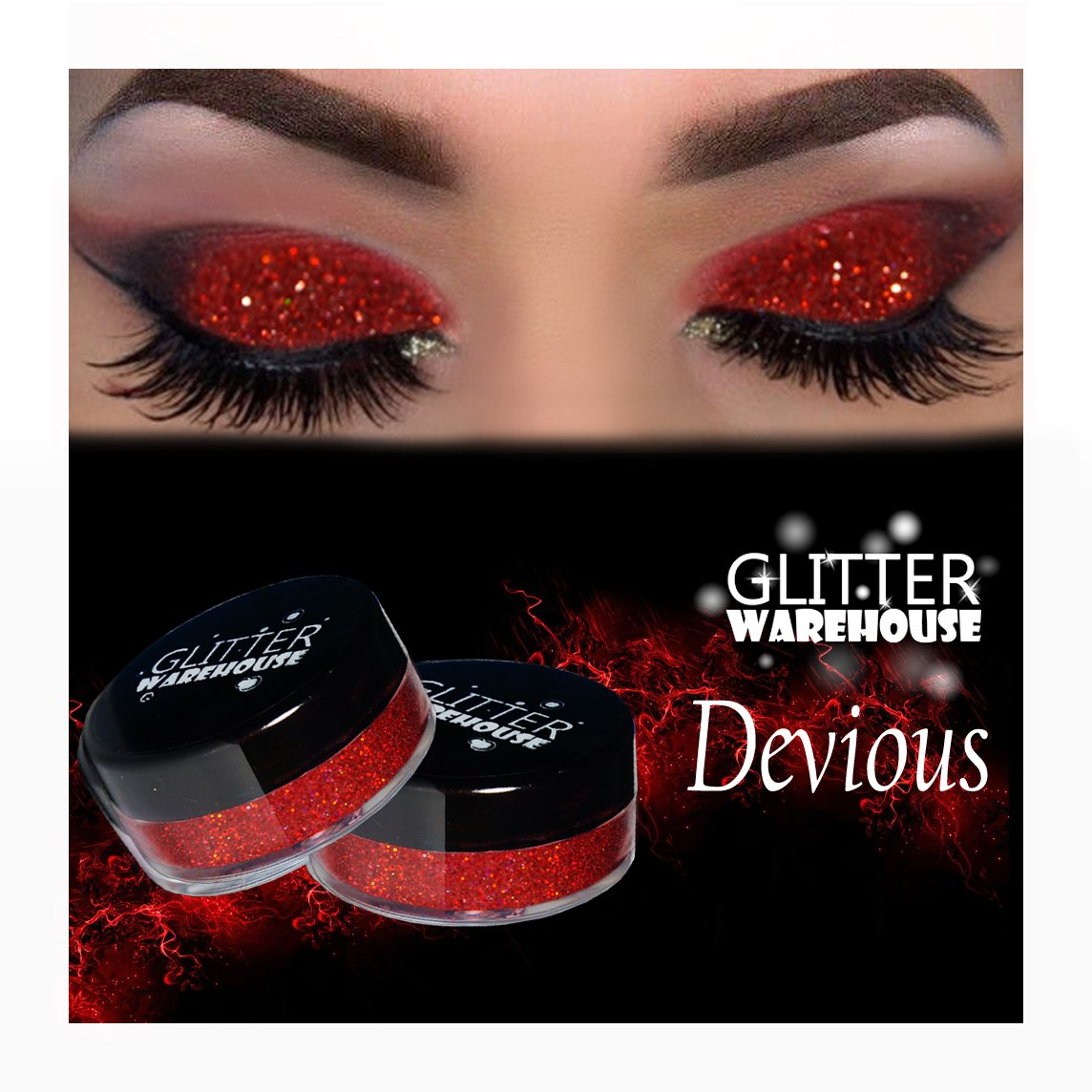 Devious GlitterWarehouse Red Holographic Loose Glitter Powder Great for  Eyeshadow/Eye Shadow, Makeup, Body Tattoo, Nail Art and More!