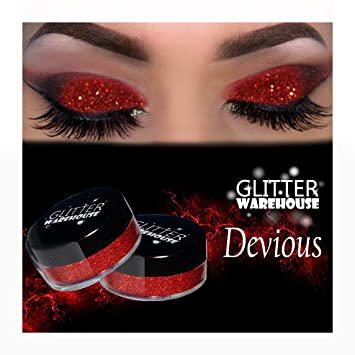 Amazon devious glitterwarehouse red holographic loose devious glitterwarehouse red holographic loose glitter powder great for eyeshadow eye shadow makeup prinsesfo Image collections