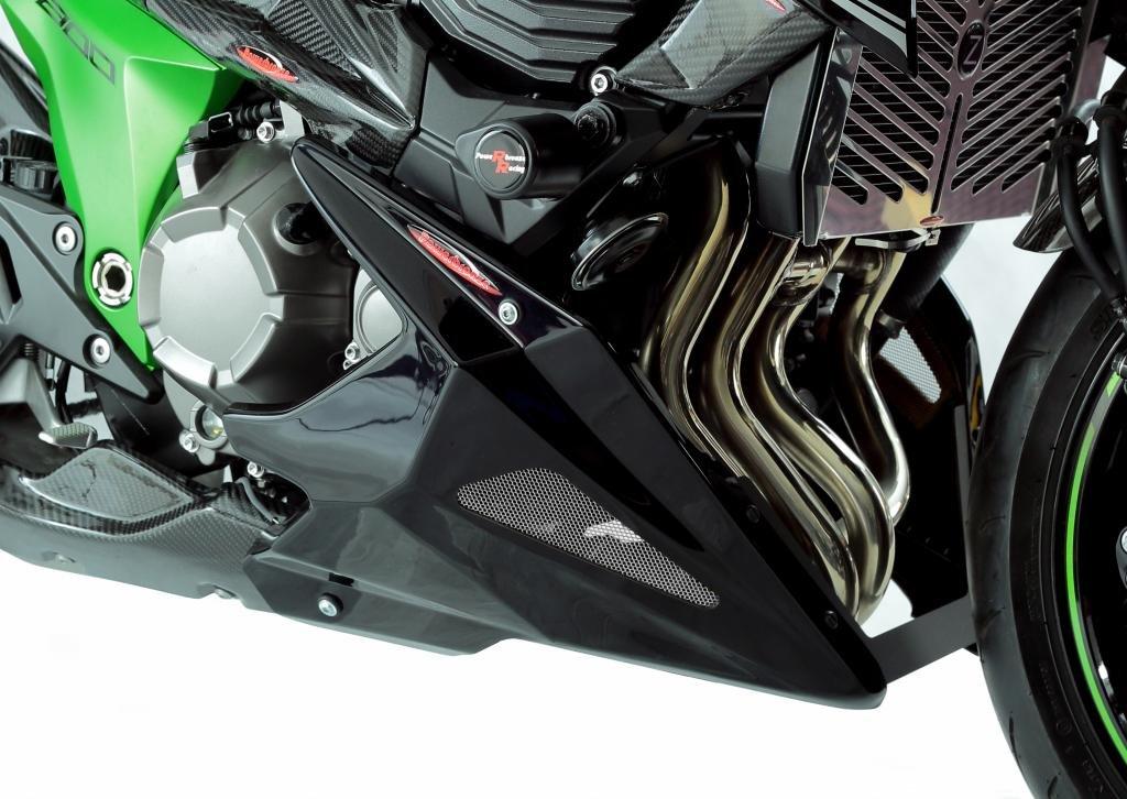 Powerbronze - Puntale Carena per Kawasaki Z800 13-15 in Carbon-Look con Inserto in Rete Argentato