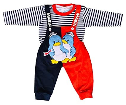 edda189fb7f7 Manraj collection Baby Full Sleeves Dungaree Rompers Baba Suit with ...