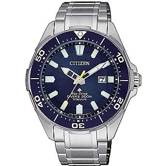 Citizen Promaster Diver 200 mt Eco Drive Super Titanio BN0201-88L, reloj de pulsera para hombre: Amazon.es: Relojes
