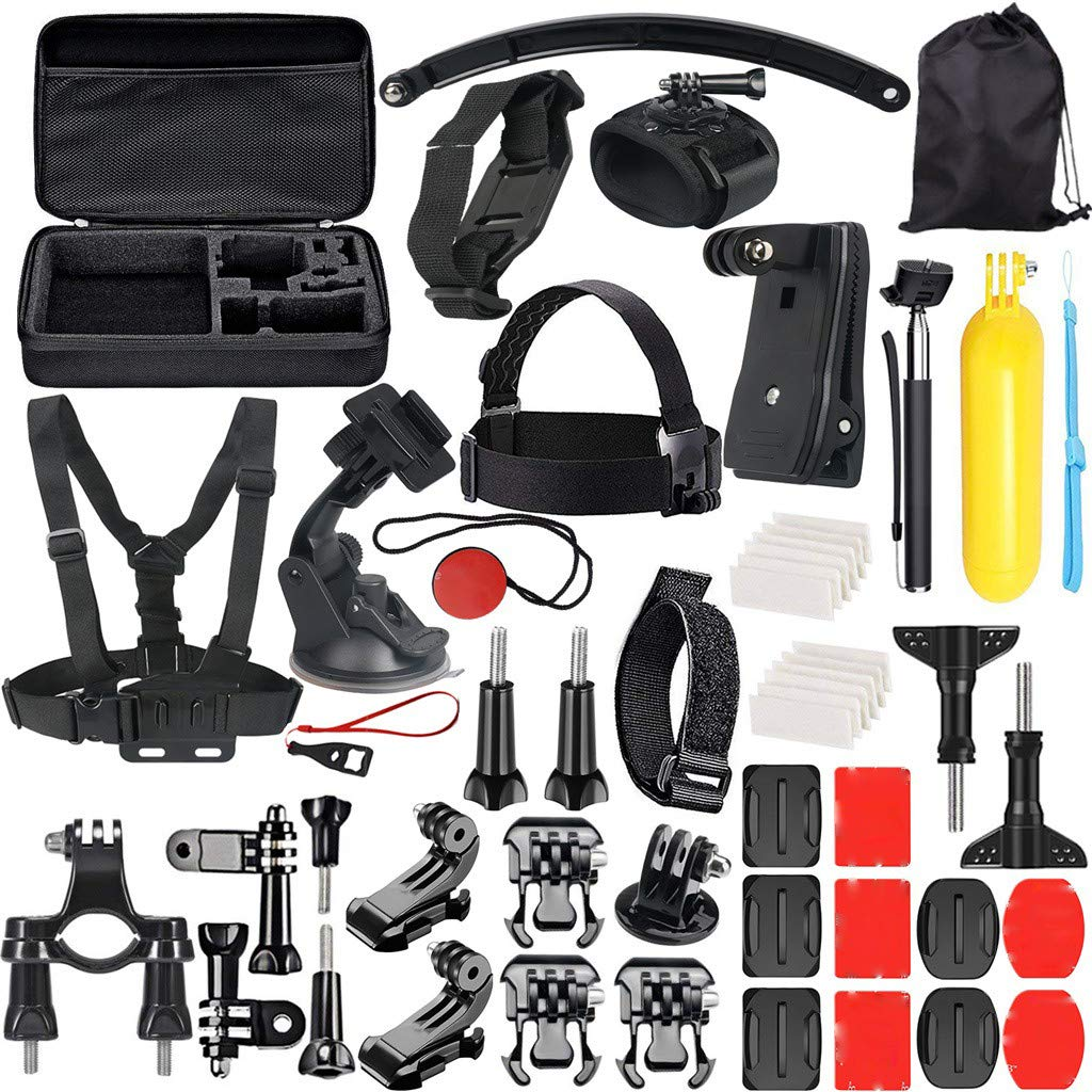 Dreamyth- New 49-in-1 Accessory Kit for GoPro Hero 7/6/5/4/3+/3/2/1 Hero Session 5/SJ4000/5000 Practical