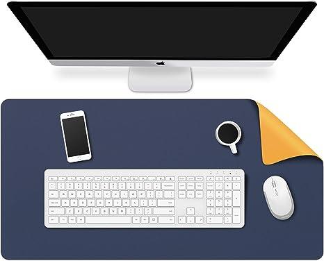 ultra sottile 2/mm dimensioni 80/x 40/cm tappetino per mouse impermeabile in similpelle perfetto da scrivania per ufficio e casa BUBM