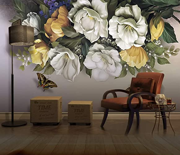 Amazon Com Murwall Dark Floral Wallpaper Flower Wall Mural Vintage