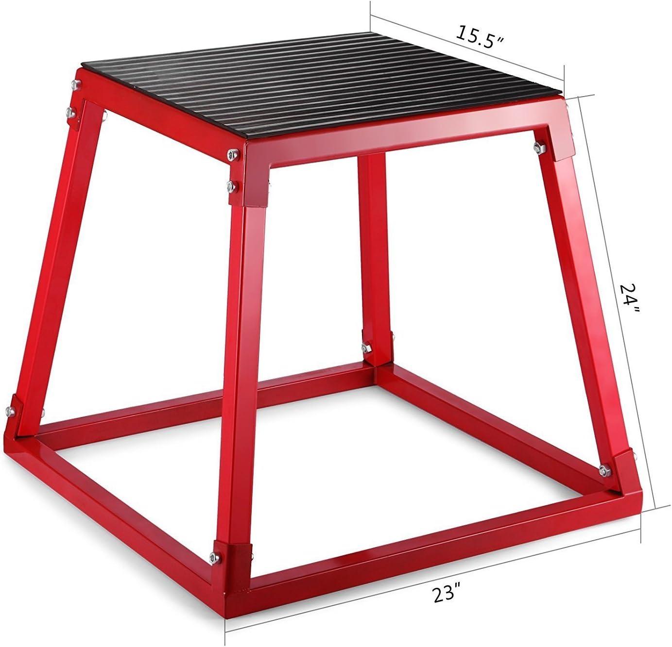 Tecmaqui Cajón de Salto para Fitness 12/18/24 Caja Pliométrica para Entrenamiento de Salto Plyo Box Banco de Salto para Crossfit (12/30.5cm): Amazon.es: Deportes y aire libre