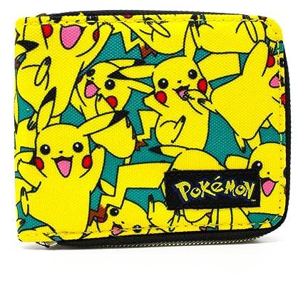 Cartera de Nintendo Pokemon Pikachu feliz Azul