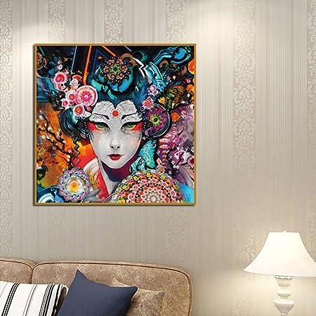 Bangle009 Mode Beautiful Girl Motif Coloré Dessin Poster Sur
