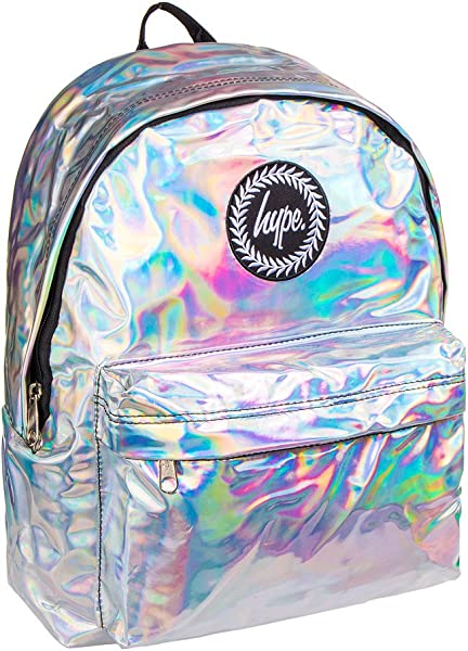 e6b3a7251b15 Hype Holographic Backpack Rucksack Bag - Ideal School Bags - Rucksack For  Boys and Girls (