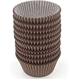 Zicome 300 Count Paper Cupcake Baking Cups Liners, Standard Size, Chocolate Brown