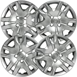 Hubcaps for Nissan Sentra (Pack of 4) Wheel Covers - Replaces 16 Inch, 4 Spoke, Bolt On, Silver