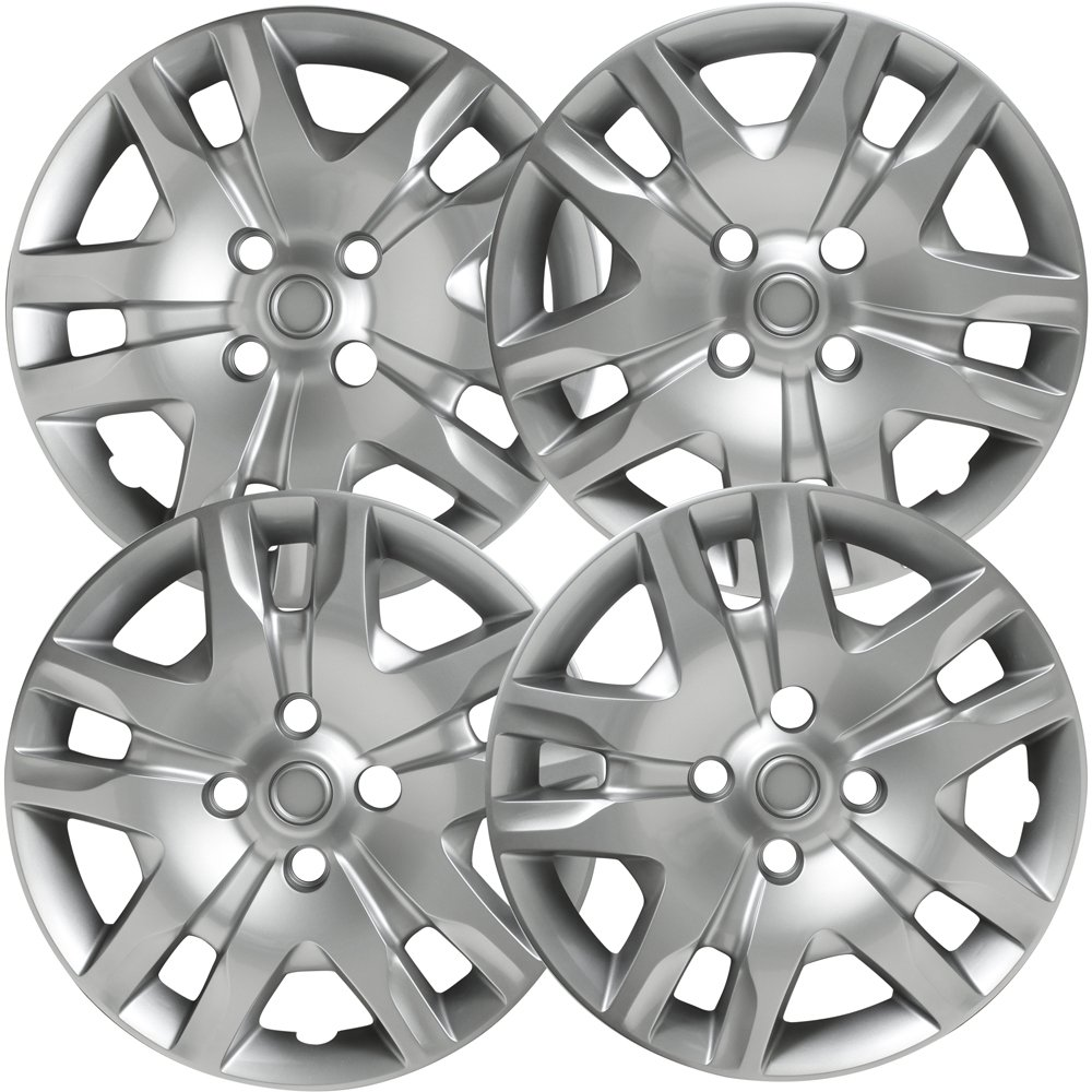 OxGord Hub-caps for 07-16 Nissan Sentra (Pack of 4) Wheel Covers 16 inch Snap On Silver