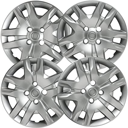 16 inch Hubcaps Best for 2010-2012 Nissan Sentra - (Set of 4) Wheel Covers 16in Hub Caps Silver Rim Cover - Car Accessories for 16 inch Wheels - Snap On ...