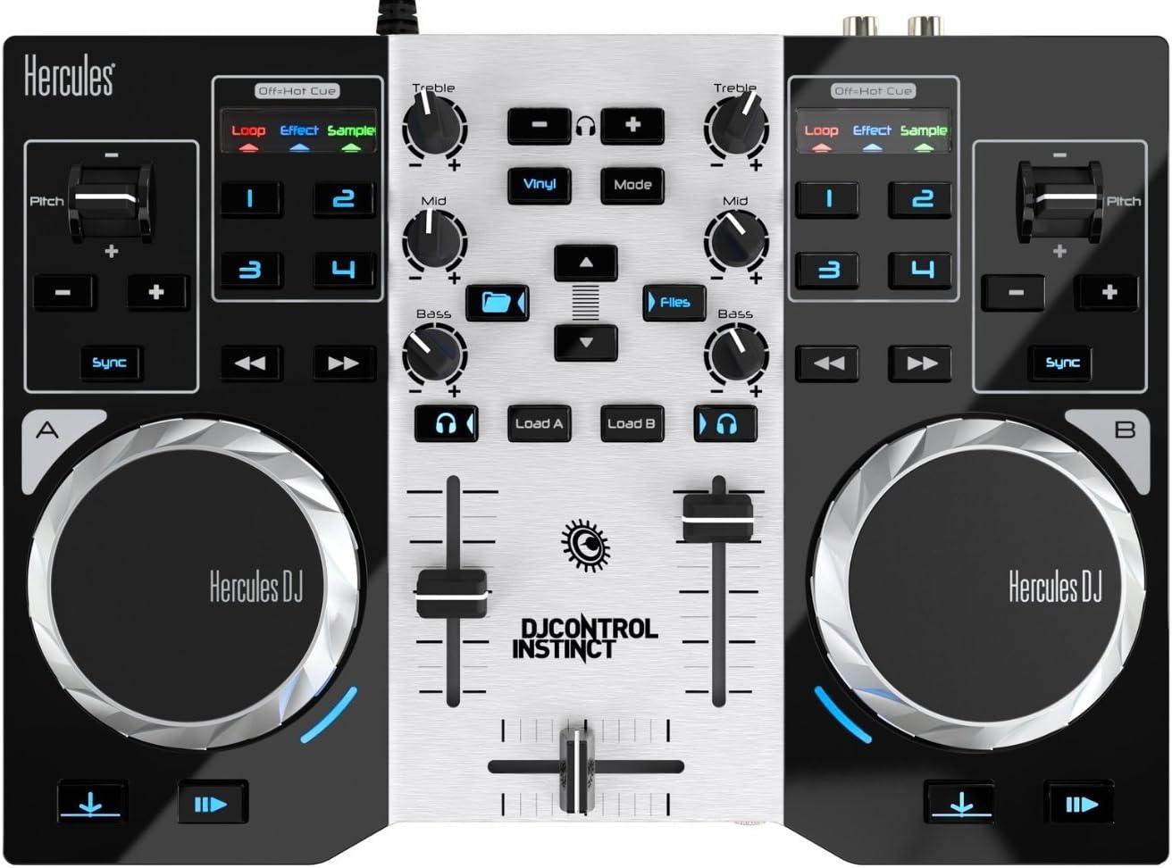 Hercules DJ Controller Instinct S Series (LED Party Light USB, djuced 18 grados): Hercules: Amazon.es: Instrumentos musicales