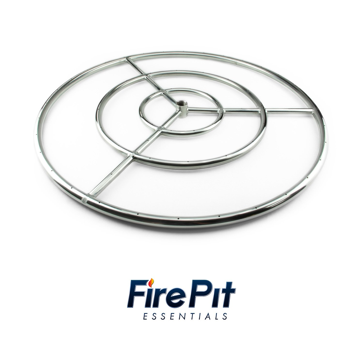 Fire Ring Burner for Fire Pits and Fireplaces | 30 Inch, Stainless Steel Burner | Includes Connector Kit