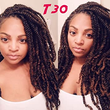 Amazoncom 4 Pack Spring Twist Crochet Braiding Hair Ombre Colors