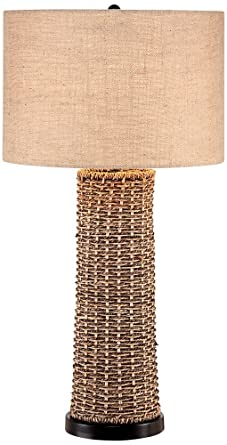 Bon Woven Seagrass And Burlap Table Lamp