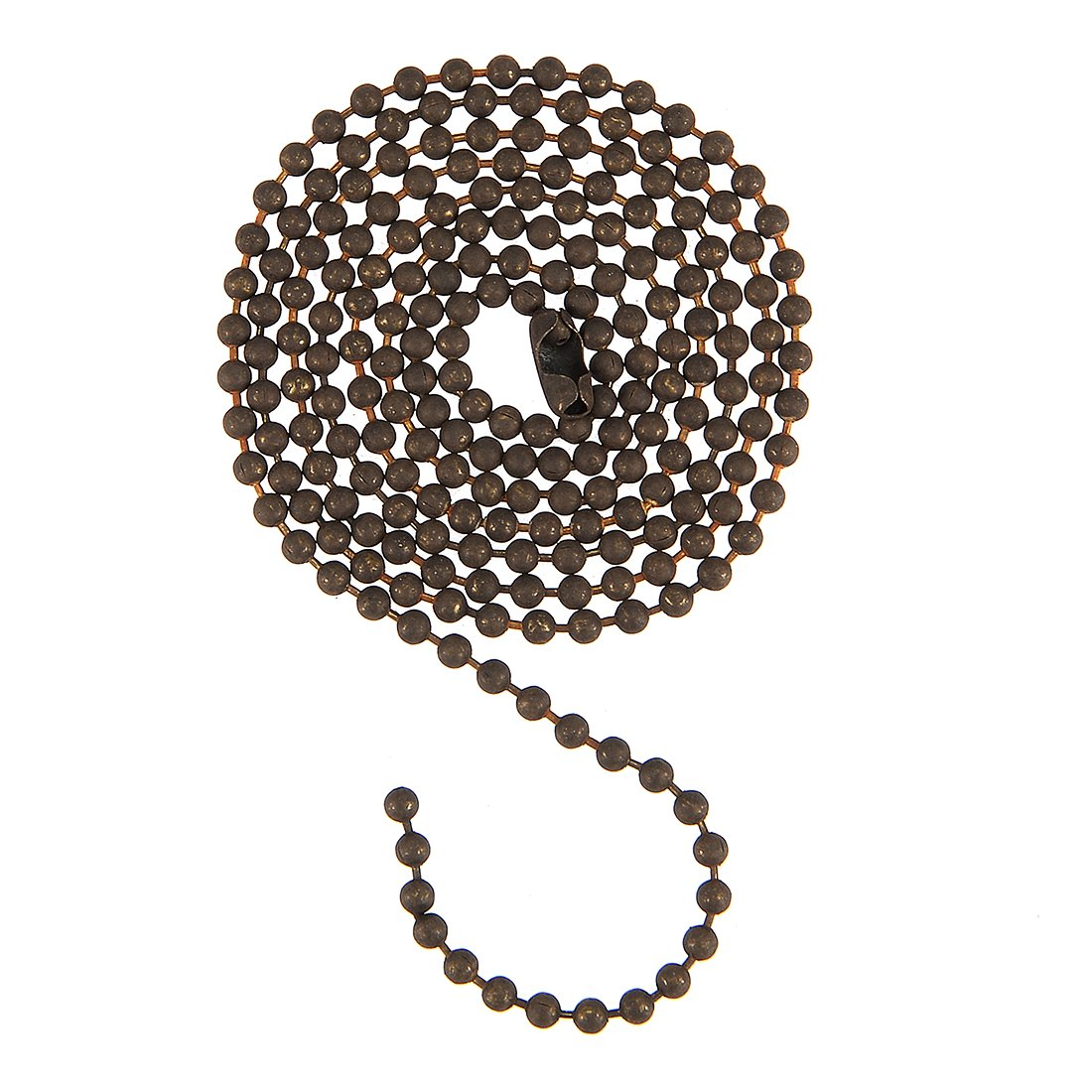 uxcell® Pull Chain Extension Ceiling Fan Beaded Chain Ornaments Stainless Steel 3 Feet Length 3mm Diameter a17082900ux0225