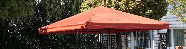 Pavillon Ersatzdach 3 x 3 m Polyester bordeaux