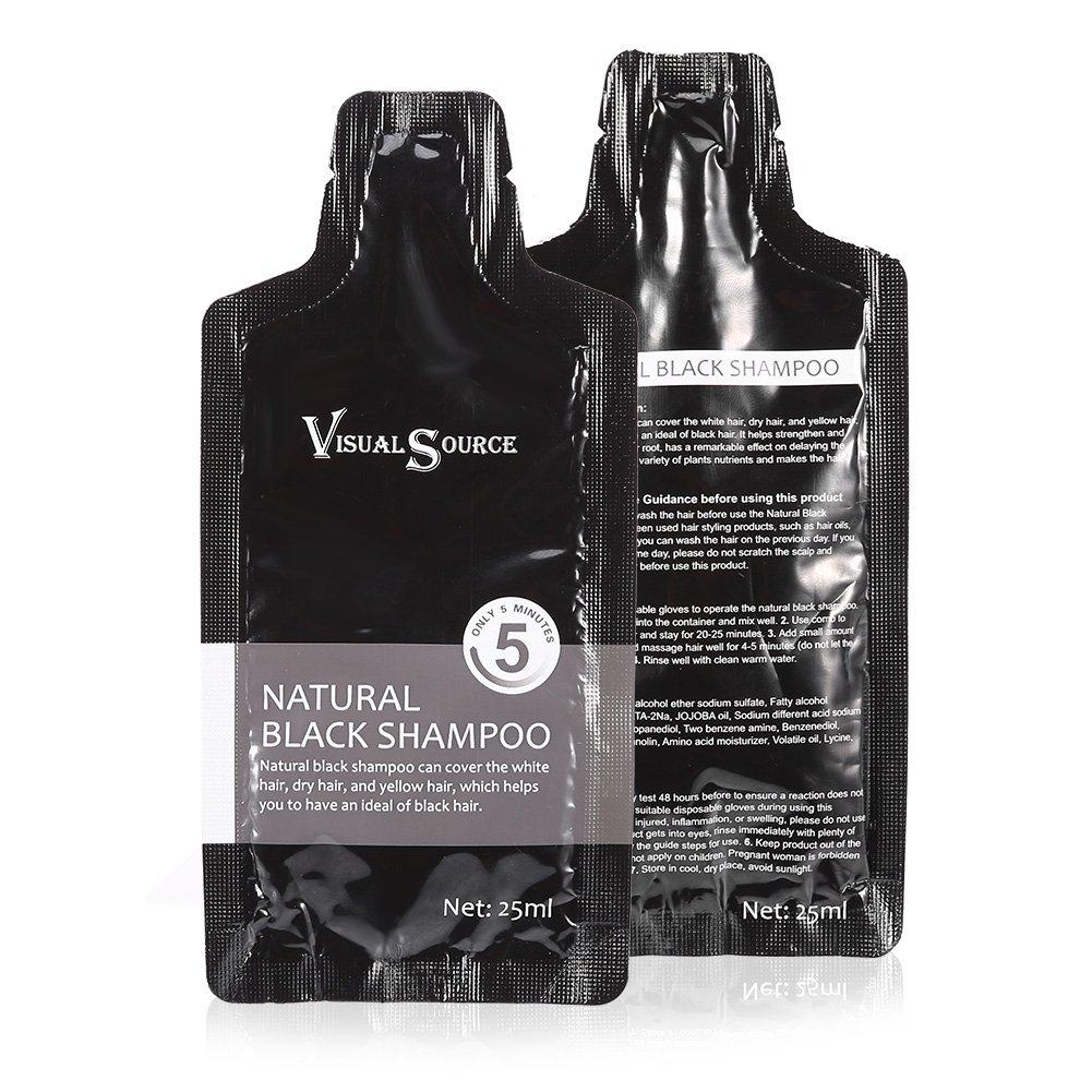 Amazon Com Natural Black Hair Shampoo White Removal Dye Coloring