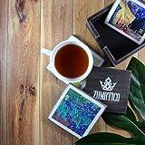 4 Vincent Van Gogh Coasters Set & Holder | Wood