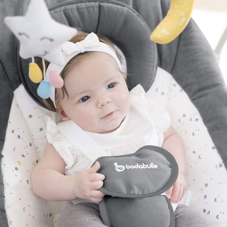 elektrische Babywippe und Schaukel mit 3 Schaukelgeschwindigkeiten Timer und 8 Melodien Badabulle Komfort Babyschaukel