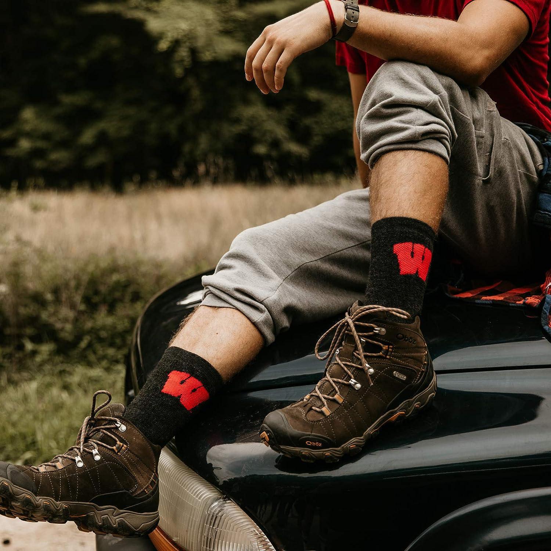 Far Trek Pure Merino Wool TCK University of Wisconsin Badgers Socks