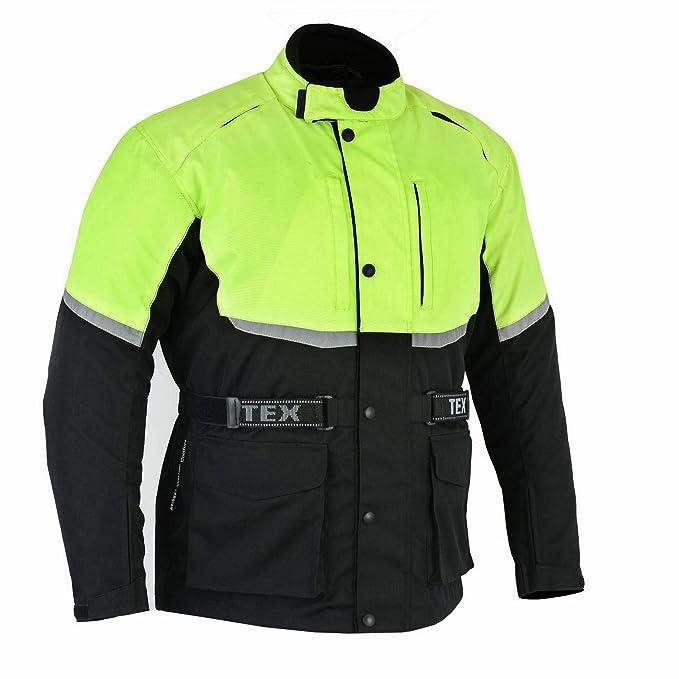 4c7753dfb7a9c8 Texpeed - Giacca Motociclismo Impermeabile - con Protezioni -  Nero/Catarifrangente - M - 12 XL: Amazon.it: Abbigliamento