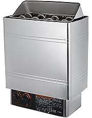 Guellin Estufa Eléctrica para Sauna 8kw / 9kw Calentador de Sauna 380-415V Sauna Stove con Control Interno Estufa Eléctrica Sauna Incorporada (8KW-Acero inoxidable)