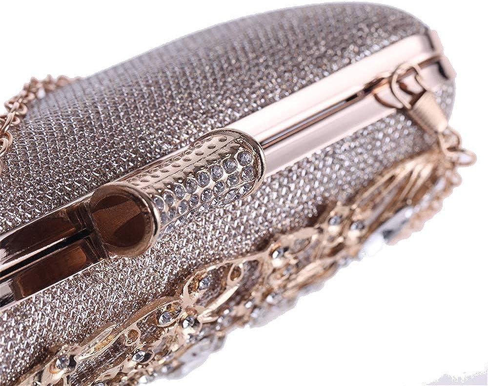 Hand Bag Female Banquet Bag Openwork Diamonds Evening Bag Red Carpet Clutch