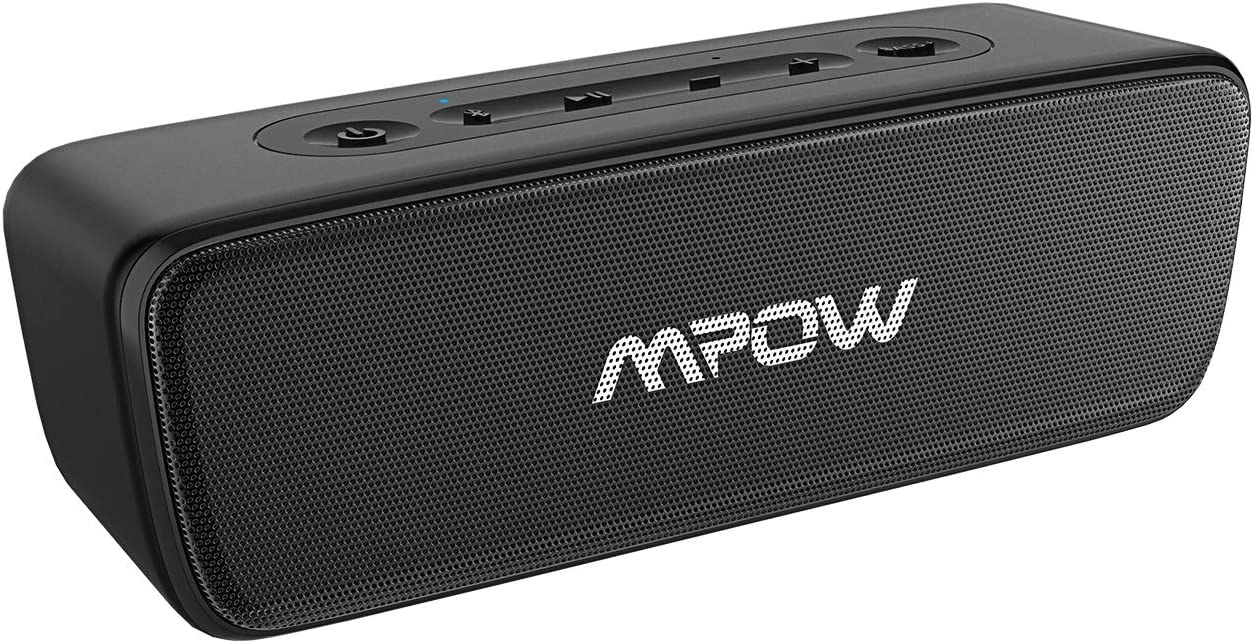 Mpow R6 Bluetooth Speaker TWS, Portable Bluetooth Speaker Waterproof IPX7, Mini Bluetooth Speaker Stereo Sound with Bass , 30H Playtime Portable Wireless Speaker, for Home, Party, Outdoor